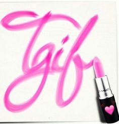* TGIF lipstick heart