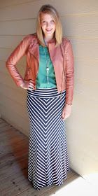 The Academic's Accessories : What I Wore Wednesday: Leather & Stripes