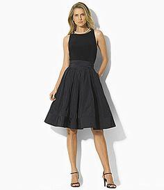 Lauren by Ralph Lauren JerseyTaffeta Dress #Dillards