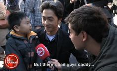 """PARIS - A French news show called """"Le Petit Journal"""" interviewed a boy and his father this week about Friday's terror attacks in Paris. YouTube user Jeje125 translated the interview to share with t..."""
