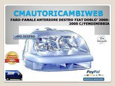 PARAFANGO ANTERIORE SINISTRO FORO LUCCIOLA FRECCIA FIAT DOBLO DAL 2005 AL 2009