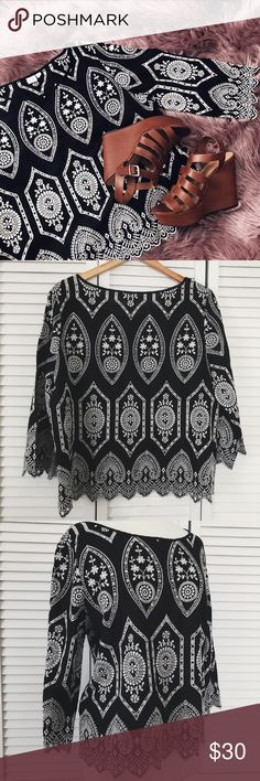 GAP Embroidered Top 💕Unique piece 💕Beautiful Patterns 💕In perfect condition   🌸 no trades please 🌸 🌸 accepting offers 🌸 🌸 bundle for a better deal! 🌸 GAP Tops