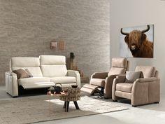 Salon met relaxfunctie, verkrijgbaar bij Top Interieur in Izegem en Massenhoven