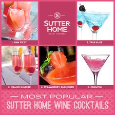 Most Popular Sutter Home Wine Cocktails