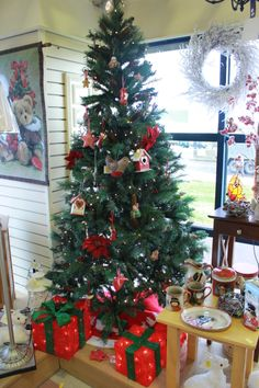 Christmas Tree and decorations at Bandon Co Op Great Christmas Gifts, Great Gifts, Christmas Tree, Deck, Decorations, Gift Ideas, Make It Yourself, Teal Christmas Tree, Front Porches