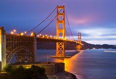 Golden Gate Bridge by Night by Joseph Sketches / 500px