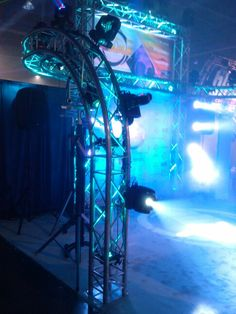 Awesome curved truss and lighting