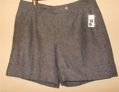 Gap Wool Blend Professional Dress Shorts w/Cuffs Size 4 Free Shipping