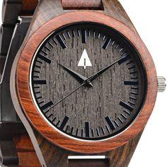 Redwood + Ebony   All Wooden Watch