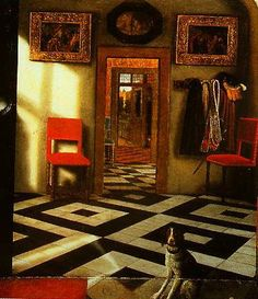 A Peepshow With Views Of A Dutch House 1655-1660  National Gallery in London  Samuel Van Hoogstraten