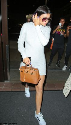 World traveller: Kylie was spotted flying out of Los Angeles' LAX airport on Saturday, heading to the Canadian bash