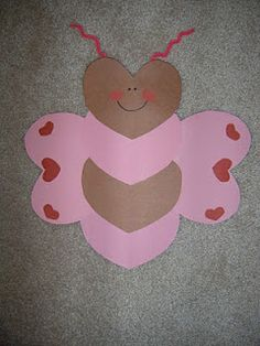 Kids heart butterfly