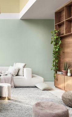 Dulux colour for Tranquil Dawn Mint Living Rooms, Colourful Living Room, Living Room Green, Green Rooms, Home Living Room, Living Room Decor, Bedroom Decor, Room Interior, Interior Design Living Room