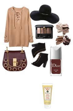 """""""Autumn colors"""" by hellodielilly on Polyvore featuring Eugenia Kim, Chloé, Guerlain, Burt's Bees and Christian Dior"""