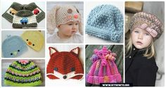DIY Crochet Beanie Hat Free Patterns (Baby Hat +Spring Hat + Winter Hat), adjust the color and size for different ages and sex.