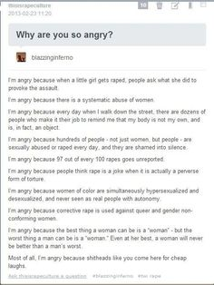 Why I'm Angry