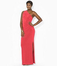Lauren Ralph Lauren Ruched OneShoulder Dress #Dillards