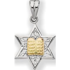 Religious Jewelry On Sale Now! Sterling Silver and Yellow Gold Star of David Medal. Metal Type: Sterling Silver and Yellow Gold. Notes and/or Sizing Info: mm Star Of David Pendant, Religious Jewelry, Gold Stars, Types Of Metal, Jewelry Design, Sterling Silver, Yellow, Products, Beauty Products