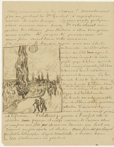 road with a cypress to paul gauguin auvers sur oise on or about tuesday 17 june vincent van gogh letters