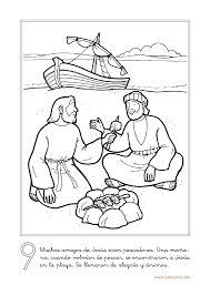 Resultado de imagen para aparicion de jesus a sus discípulos para colorear