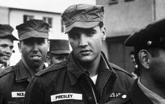 Elvis Presley during his service in the U.S. Army.