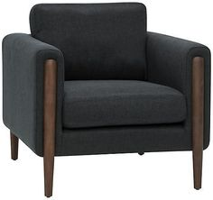 One Kings Lane Steen Accent Chair - Steel Gray