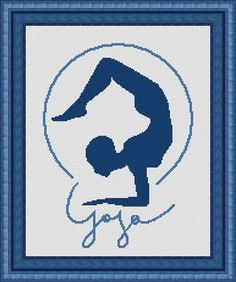 YOGA 2  symbol- Counted cross stitch pattern /grille point de croix , PDF, Instant download