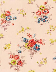 Pattern by Cath Kidston. (I wish I'd taken a hint from the tween girls I saw in the UK and bought a Cath Kidston floral backpack.)