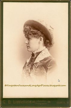 Sentimental Sunday - Women with Hats - Girl from Anamosa, IA 1885-1892  http://forgottenfacesandlongagoplaces.blogspot.com/2012/03/sentimental-sunday-women-with-hats-girl.html#