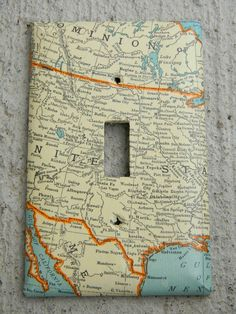 map covered switch plates
