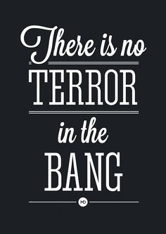 """""""There is no terror in the bang, only in the anticipation of it."""" - Alfred Hitchcock"""