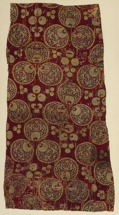 Bursa or Istanbul, mid-16th centuryFragment of a Dress or Furnishing Fabric with 'Chintamani' Design Turkey,