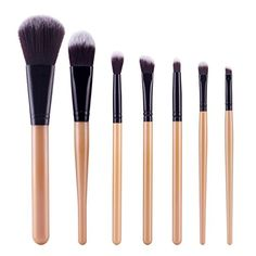 DEESEETM Makeup Brush 7Pcs Cosmetic Brush Makeup Brush Sets Kits ToolsBlack -- You can get more details by clicking on the image.