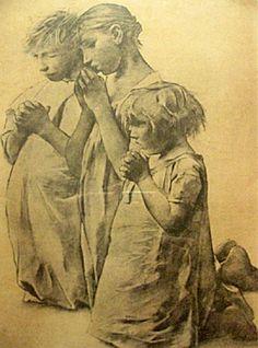 La priere du soir Leon Frederic (1856-1940) Night prayer