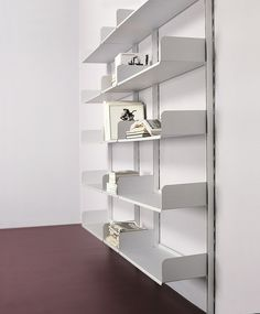 Wall-mounted sectional shelving unit K1 by @kriptoniteitaly