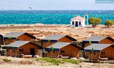 High-End Oceanfront Tents in Limnos Greece | glamping tents Greece