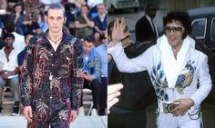 Suit you, sir ... Alexander McQueen SS18, and Elvis.