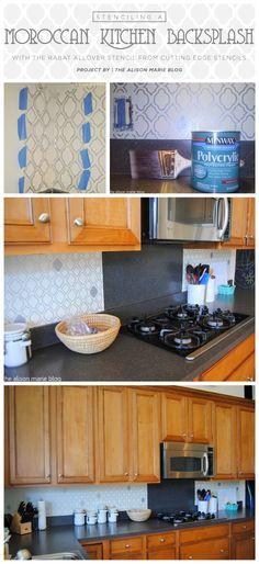 Cutting edge stencils shares stenciled kitchen backsplash ideas as ...
