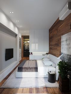wooden accent bedroom decor