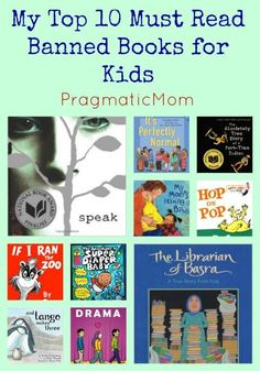 My Top 10 Must Read Banned Books to Celebrate Banned/Challenged Book Week :: PragmaticMom Books For Moms, Good Books, Books To Read, Preschool Books, Book Activities, Library Lessons, Library Ideas, New Teachers, Teachers Toolbox