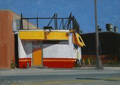 Stephen Magsig  the yellow door 7 x 5 oil on linen