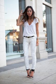 song of style white look fashion