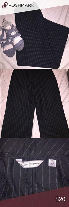 Pinstriped Dress Pants Comfy dress pants in black/white pinstripe. 18/20 average. Excellent condition. Avenue Pants