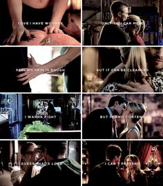 Love I have wounds only you can mend. Feel my skin is rough but it can be cleansed. I wanna fight but I can't contend. I guess that's love, I can't pretend. #arrow