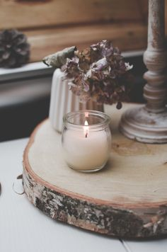 Daughter of the Woods hygge slow living candles rain interior