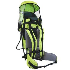 Baby Back Pack Cross Country Carrier Stand Child Kid Sun Shade Visor Green * Check out this great product.
