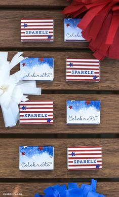 Printable Matchbox Labels for Fourth of July   |   liagriffith.com