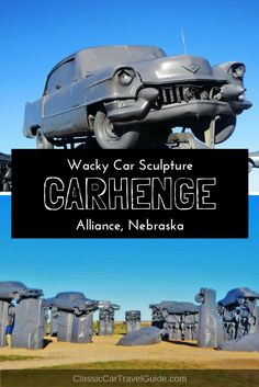 A quirky homage to Stonehenge in the middle of a cornfield in Nebraska, USA|Carhenge|Carhenge Nebraska|Stonehenge made of cars|Nebraska tourism|Nebraska USA|Midwest sights to visit