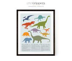 Dinosaur Poster for Kids Boy Wall Art, Nursery Wall Art, Dinosaur Posters, Dinosaur Prints, Toddler Room Decor, Charts For Kids, Nursery Themes, Animals For Kids, Classroom Decor