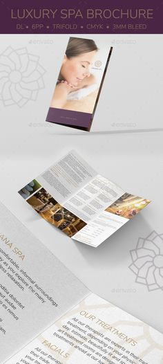 Luxury Spa DL Brochure - Corporate #Business #Cards Download here:  https://graphicriver.net/item/luxury-spa-dl-brochure/19891664?ref=alena994